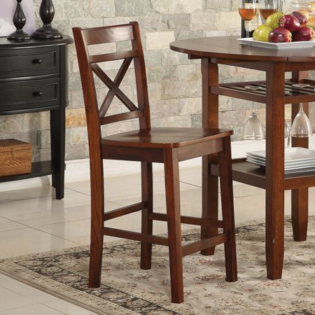 ACME Tartys Counter Height Chair, Cherry (Set of 2)
