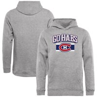 Montreal Canadiens Youth Hometown Collection Go Habs Pullover Hoodie - Ash