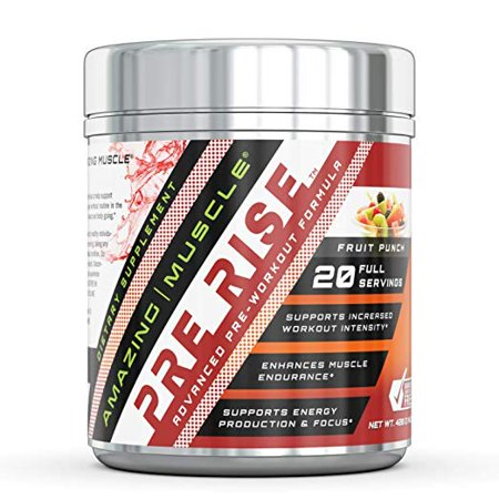 Amazing Muscle Pre-workout BCAA Fruit Punch -Supports increased workout intensity* -Supports enhanced muscle growth, focus & endurance -Supports energy
