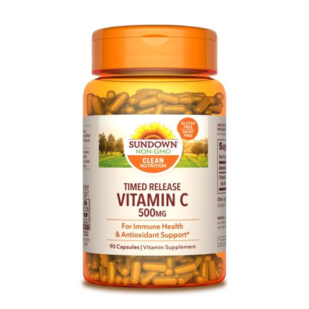 Sundown Naturals Vitamin C Time Release Capsules, 500 Mg, 90 Ct
