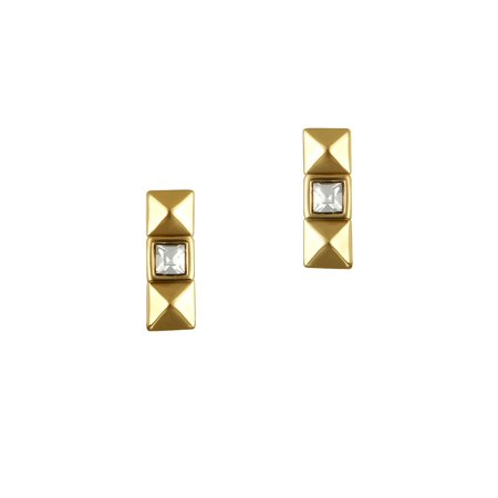 Pyramid Swarovski Crystal and Crystal Stud Earrings