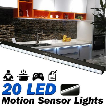 low priced 44e19 a6487 LED Closet Lights, Elfeland Under Cabinet Lights 20 LED Motion Sensor  Lights Battery Operated Wireless Under closetlight Cabinet Lighting LED  Night ...