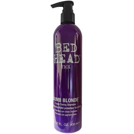 TIGI Bed Head Dumb Blonde Purple Toning Shampoo (13.5 fl Oz) - Corrects Brassy Tones - Frizz Control ()