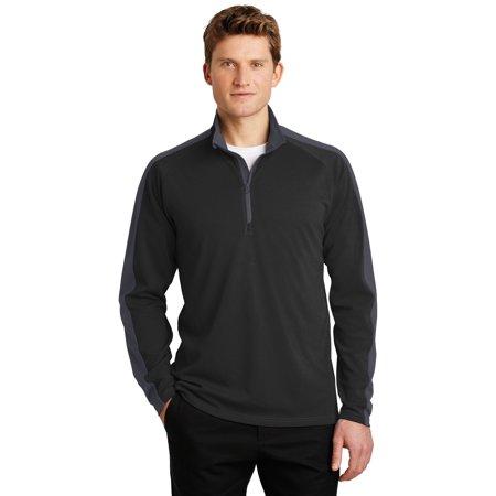 Sport-Tek® Sport-Wick® Textured Colorblock 1/4-Zip Pullover. St861 Black/ Iron - image 1 de 1