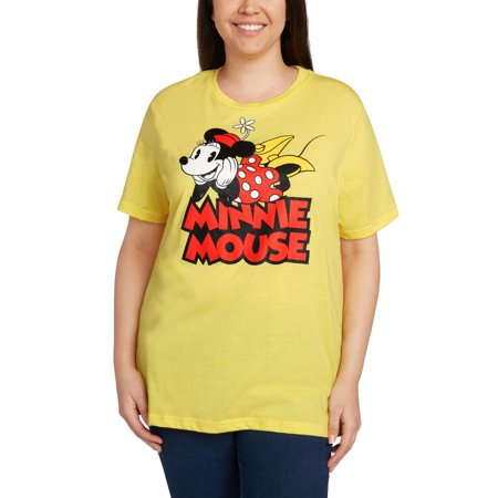 Adult Minnie Mouse Shirt (Minnie Mouse Vintage T-shirt Women's Plus Size)