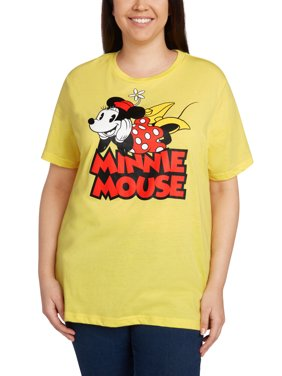 7ad2cfd07d6d2 Product Image Minnie Mouse Vintage T-shirt Women s Plus Size Yellow. Disney
