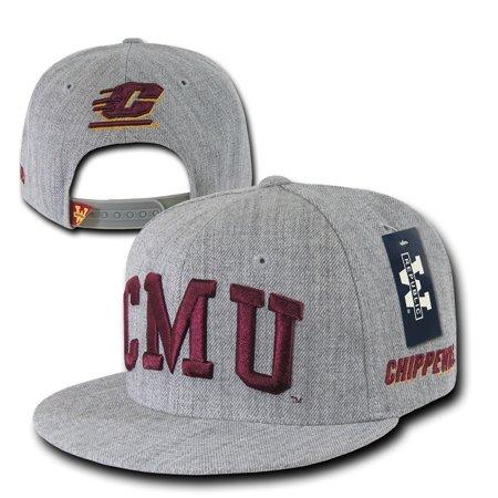 Flat Bill Baseball - CMU Central Michigan University Chippewas NCAA Flat Bill Snapback Baseball Hat