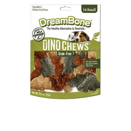 DreamBone Small Dino Chews Treats, 14 Count, Rawhide Free
