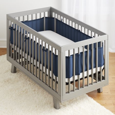 BreathableBaby, Classic Breathable - Mesh Crib Liner- True Navy