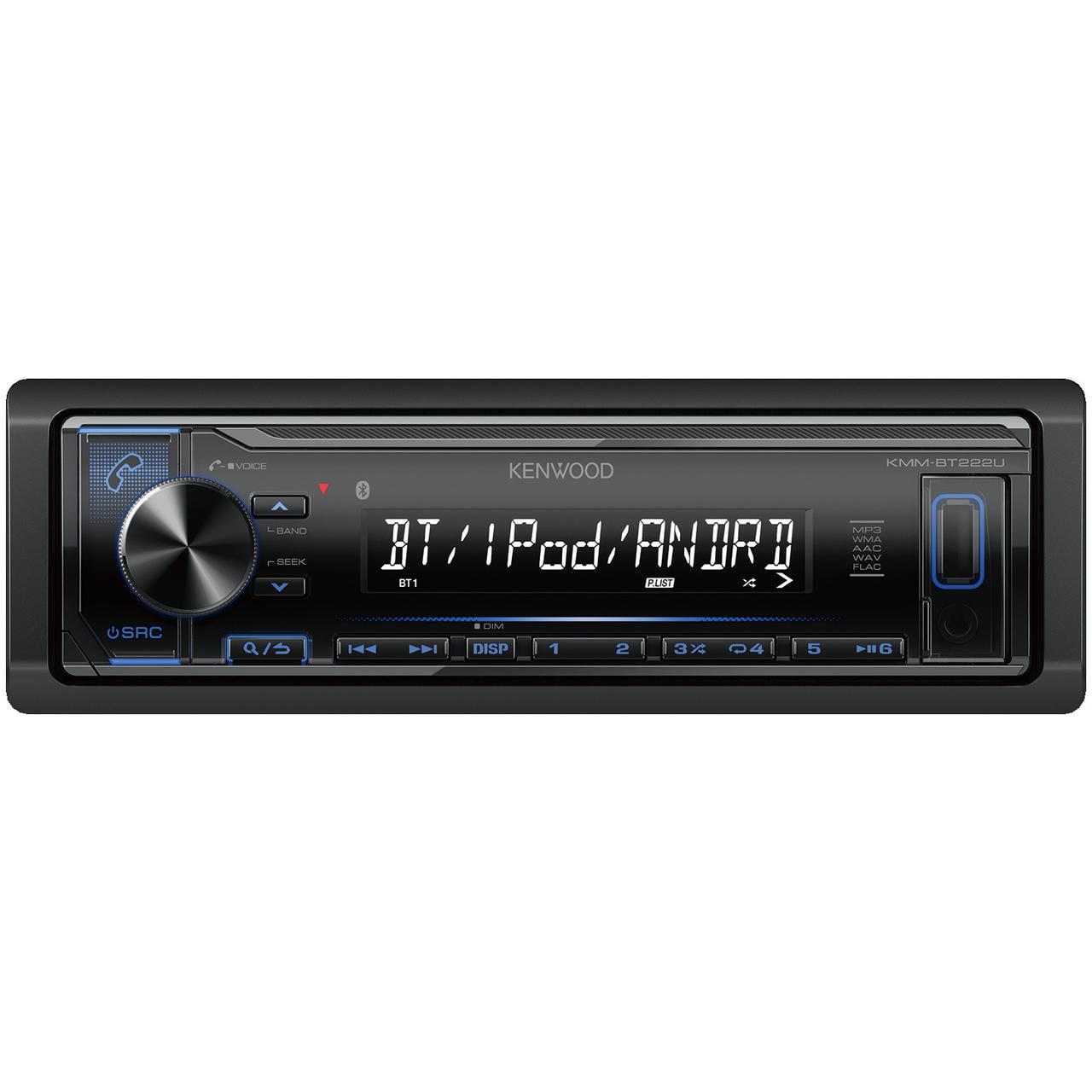 Kenwood KMM-BT222U Single-Din In-Dash Digital Media Receiver With Bluetooth by Kenwood