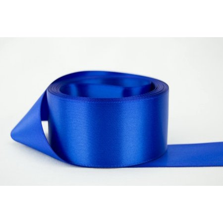 Ribbon Bazaar Double Faced Satin 1-1/2 inch Royal Blue 50 yards 100% Polyester (Lime Satin Ribbon)