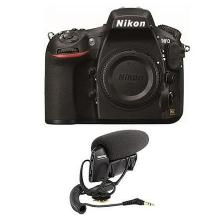 Nikon D810 Digital SLR Body Only Camera - Bundle with Shure VP83 LensHopper Camera-Mount Condenser Microphone - image 1 of 1