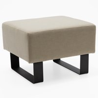 MoDRN Refined Industrial Atoll Metal Base Ottoman, Multiple Colors