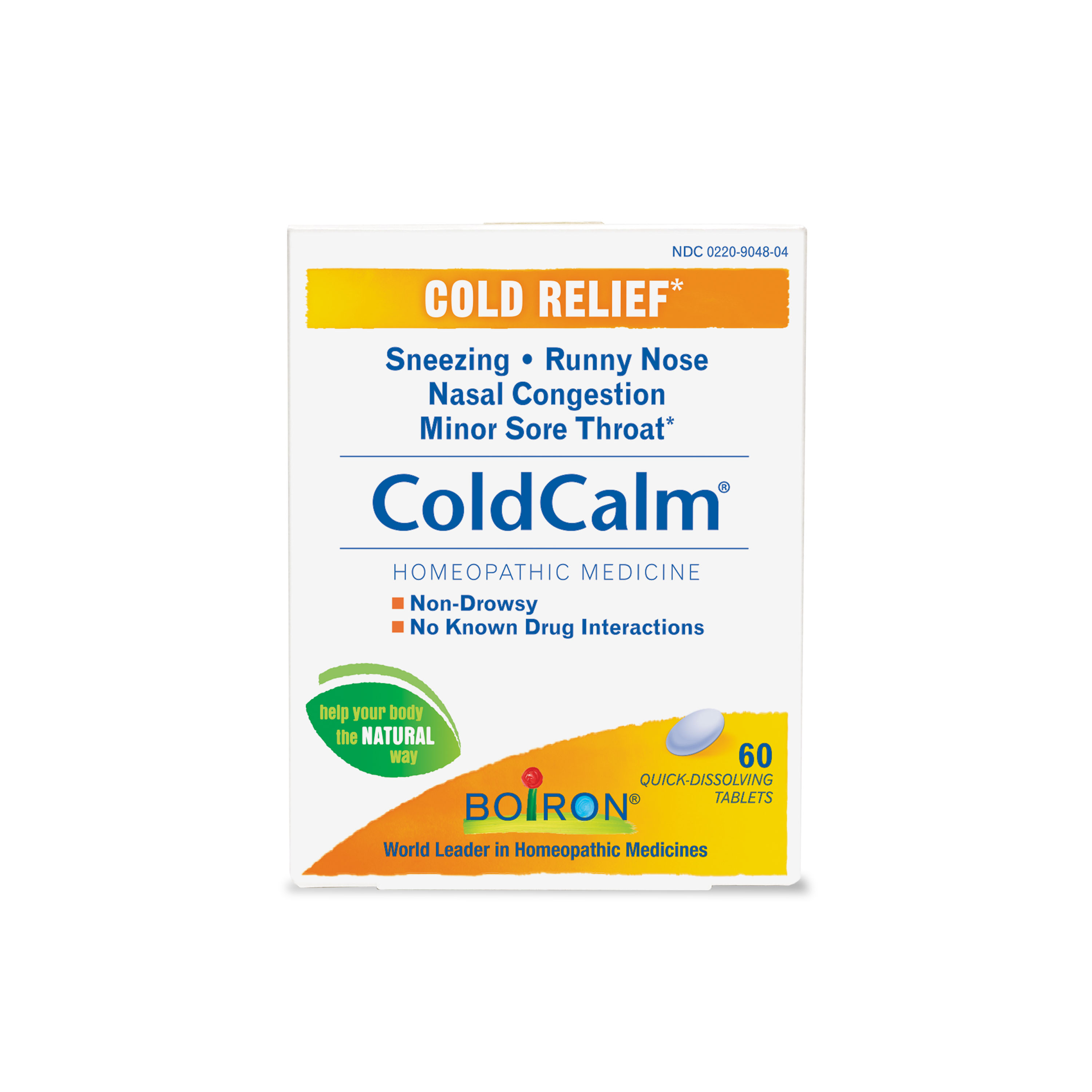 Boiron ColdCalm Cold Relief Tablets, 60 Ct
