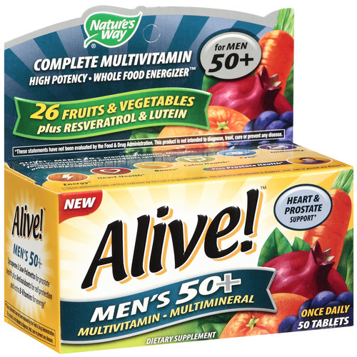 Alive! Once Daily Men's 50+ Multivitamin/Multimineral, 50ct