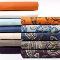 Impressions Flannel Cotton Paisley Sheet Set