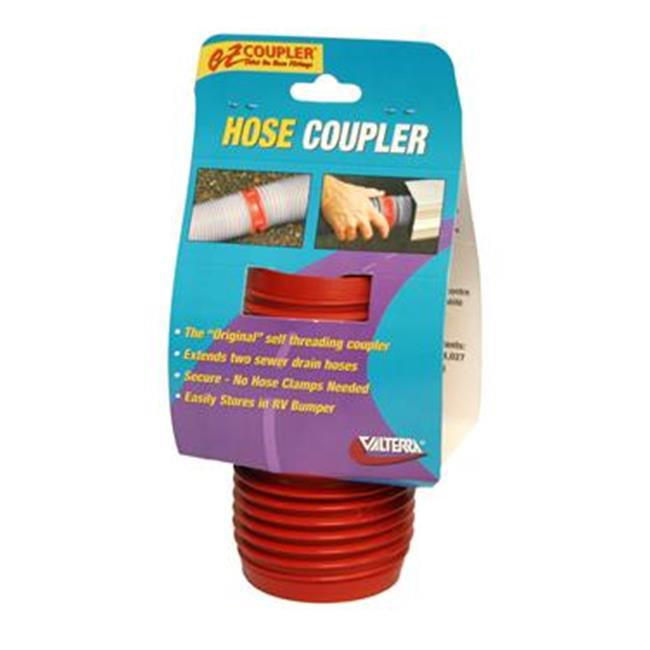 VALTERRA LLC F023102 Ez Coupler Sewer Hose Connector, Red