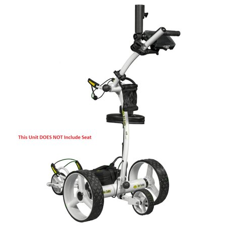 Bat Caddy X4 Pro Manual Electric Golf Bag Cart White w/ 12V 35Ah