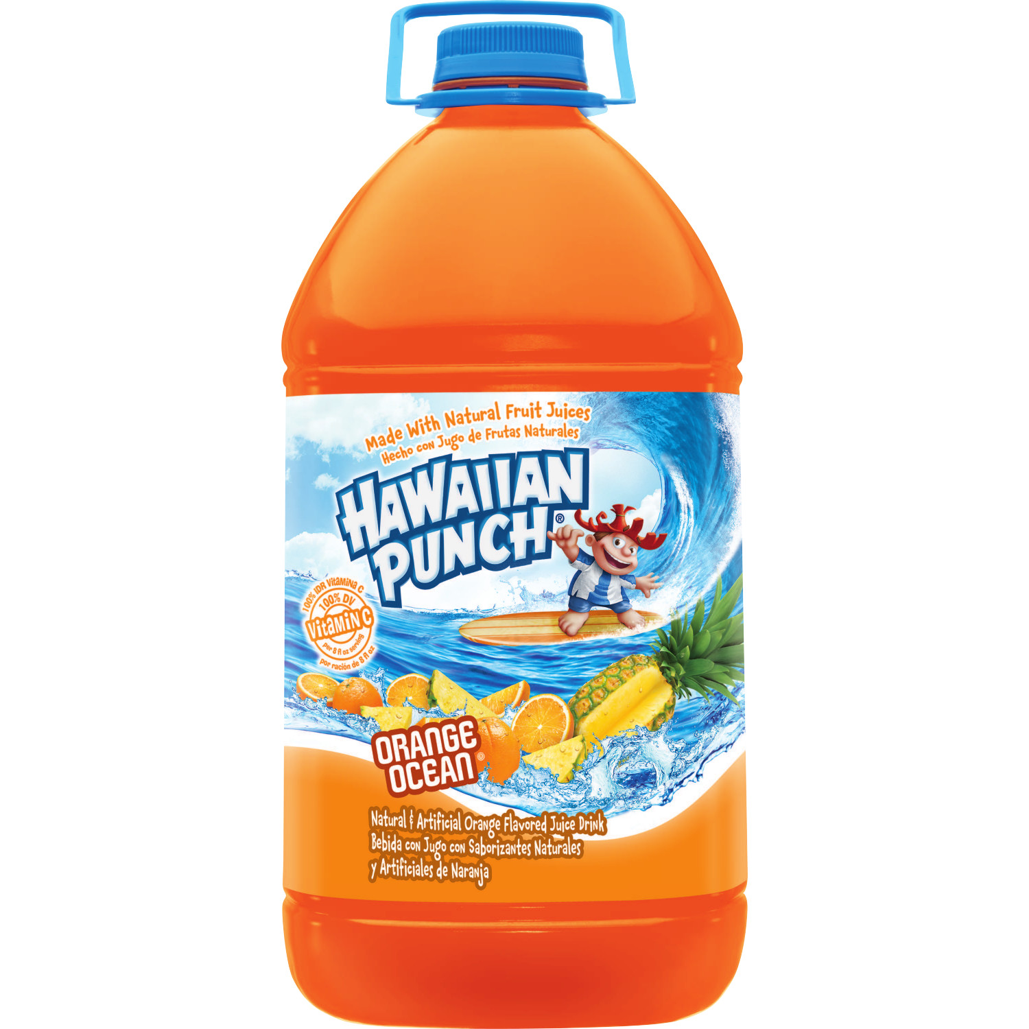 Hawaiian Punch Juice, Orange Ocean, 128 Fl Oz, 1 Count