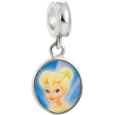 Tinkerbell Heart Charm - Connections from Hallmark Stainless Steel Disney Tinkerbell Dangle Charm
