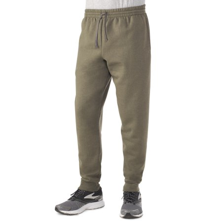 Fruit of the Loom Men's Cuff Bottom Jogger Sweatpant with po