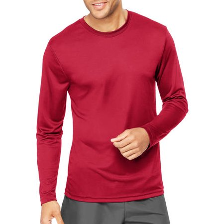Hanes Sport Mens Cool DRI Performance Long Sleeve Tshirt (50  UPF ...