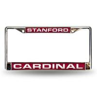 Stanford Cardinal NCAA Chrome Laser Cut License Plate Frame