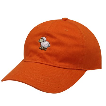 City Hunter C104 Sheep Cotton Baseball Dad Hat Orange](Sheep Hat)