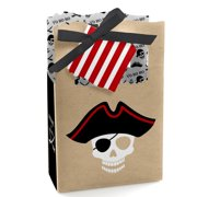 Beware of Pirates Pirate Birthday & Halloween Party Favor Boxes Set of 12 by Big Dot of Happiness, LLC
