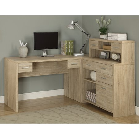 Awesome Monarch Reclaimed Look L Shaped Home Office Desk Home Interior And Landscaping Eliaenasavecom