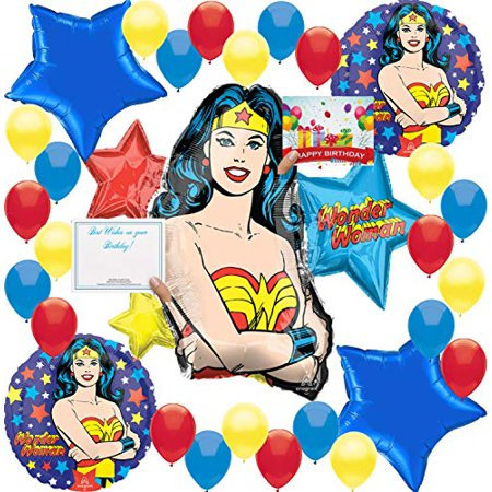 Wonder Woman Birthday Party (Wonder Woman Party Supplies Birthday Balloon Decorations Complete)