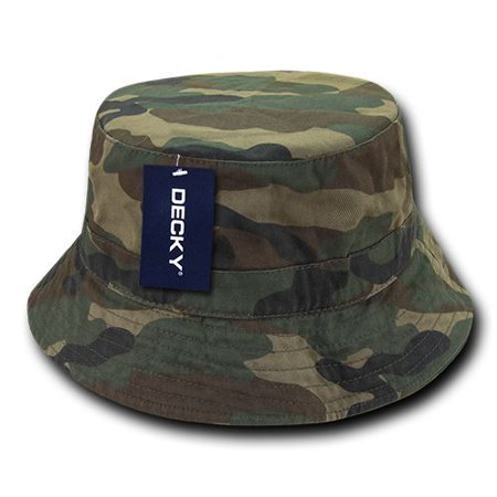 Camo Bucket Hats (Woodland Camo Fishermans Fishing Hunting Army Military Bucket Jungle Safari Hat-S /)