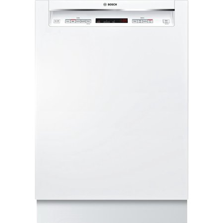 SHEM63W52N 24 Energy Star Rated 300 Series Recessed Handle Dishwasher with 16 Place Settings  3 Racks  Tall Tub  5 Wash Cycles  and 4 Wash Options  in White