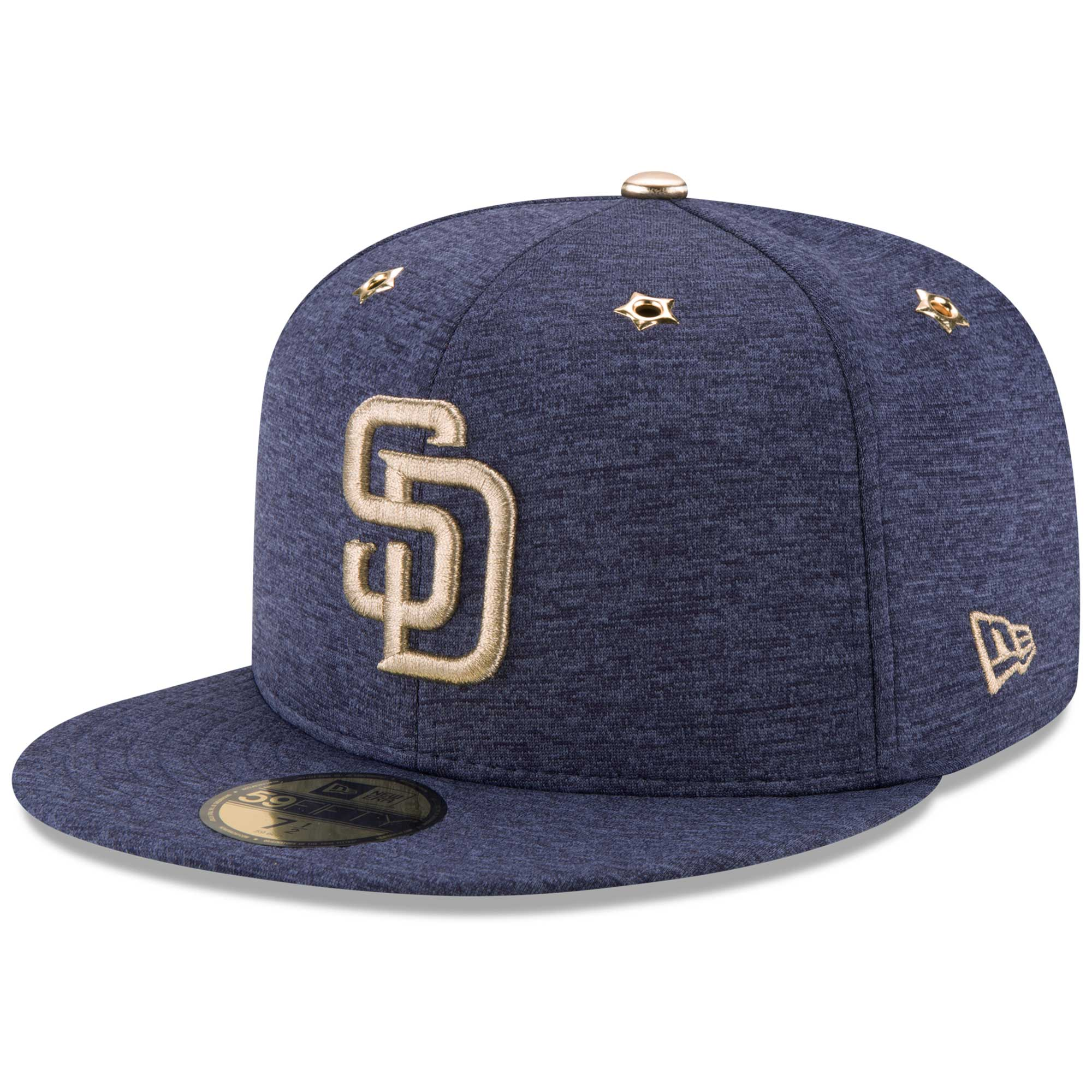 competitive price 79990 807f1 San Diego Padres New Era 2017 MLB All-Star Game Side Patch 59FIFTY Fitted  Hat - Heathered Navy - Walmart.com
