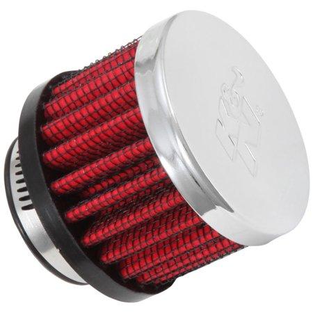 K&N 1in Flange ID x 2in OD x 1.5 inch H Rubber Base Crankcase Vent (Rubber Base Crankcase Vent Filter)