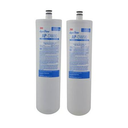 3M Aqua-Pure Under Sink Dedicated Faucet Replacement Water Filter Cartridge AP-DW80/90,