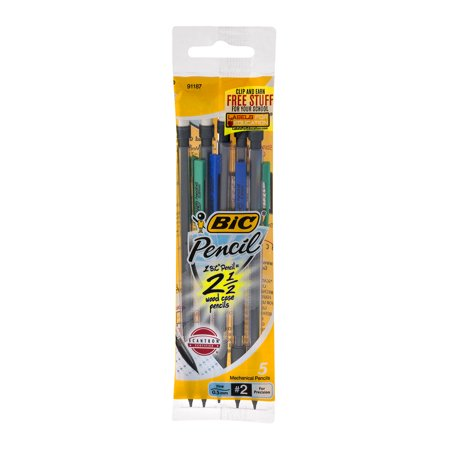 BIC Pencil Xtra Precision Mechanical Pencil, Clear Barrel, Fine Point (0.5 mm), - 0.5 Mm Needlepoint