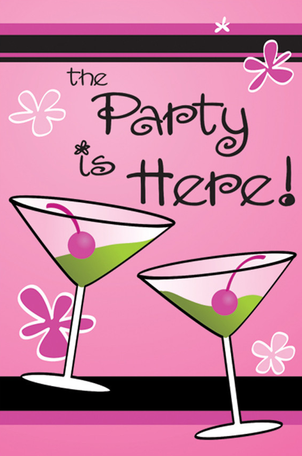 "Girls Night In Party House Flag Applique Drinks Cocktail Martini Olive 28"" x 40"" by"