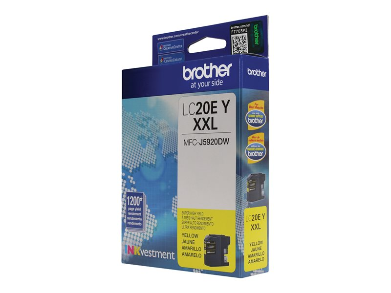 LC20EY for Use with MFC-J5920DW LC20EBK USA Advantage Compatible Ink Cartridge Replacement for Brother LC20E C,M,Y,K,4 Pack LC20EM LC20EC