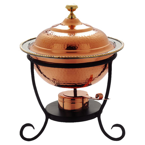 Old Dutch International Round 3 Qt. Decor Copper Chafing Dish