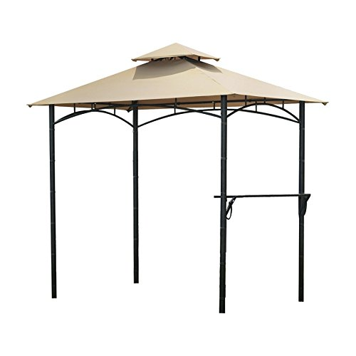 Garden Winds Bamboo Look BBQ Gazebo Replacement Canopy Top