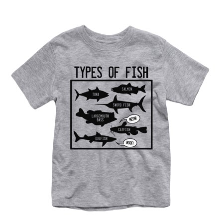 Types of fish toddler short sleeve tee for Types of fish at walmart