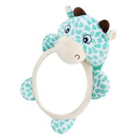 Lovely Cow Shaped Shatterproof Clear View Car Mirror for Baby