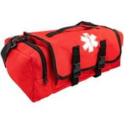 LINE2design First Aid Medical Bag - EMS EMT Paramedic Economical Tactical First Responder Trauma Bag Empty - Portable Outdoor Travel Jump Rescue Bags - Red