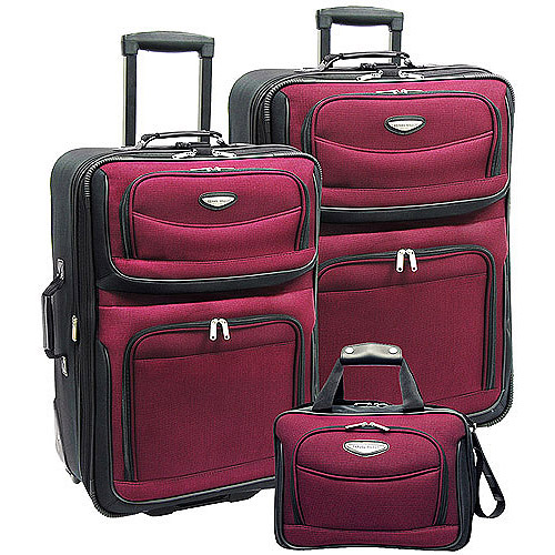 Amsterdam 3-Piece Rolling Luggage Set, Multiple Colors