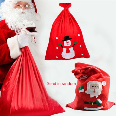 Flying Outlets Large Size Christmas Bag Christmas Santa Sack for Presents Funny Candy