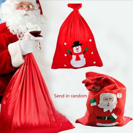 Christmas Bag Christmas Santa Sack for Presents Funny Candy Gifts - Present Bag