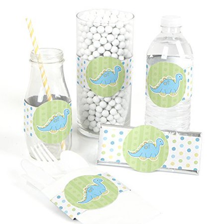 Baby Boy Dinosaur - DIY Party Wrapper Favors - Set of 15](Diy Dinosaur Tail)