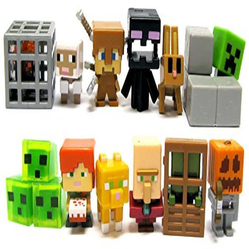 Mattel Minecraft Mini-Figures Obsidian 4 Series 12 1-Inch Figure Blind Box Collection by