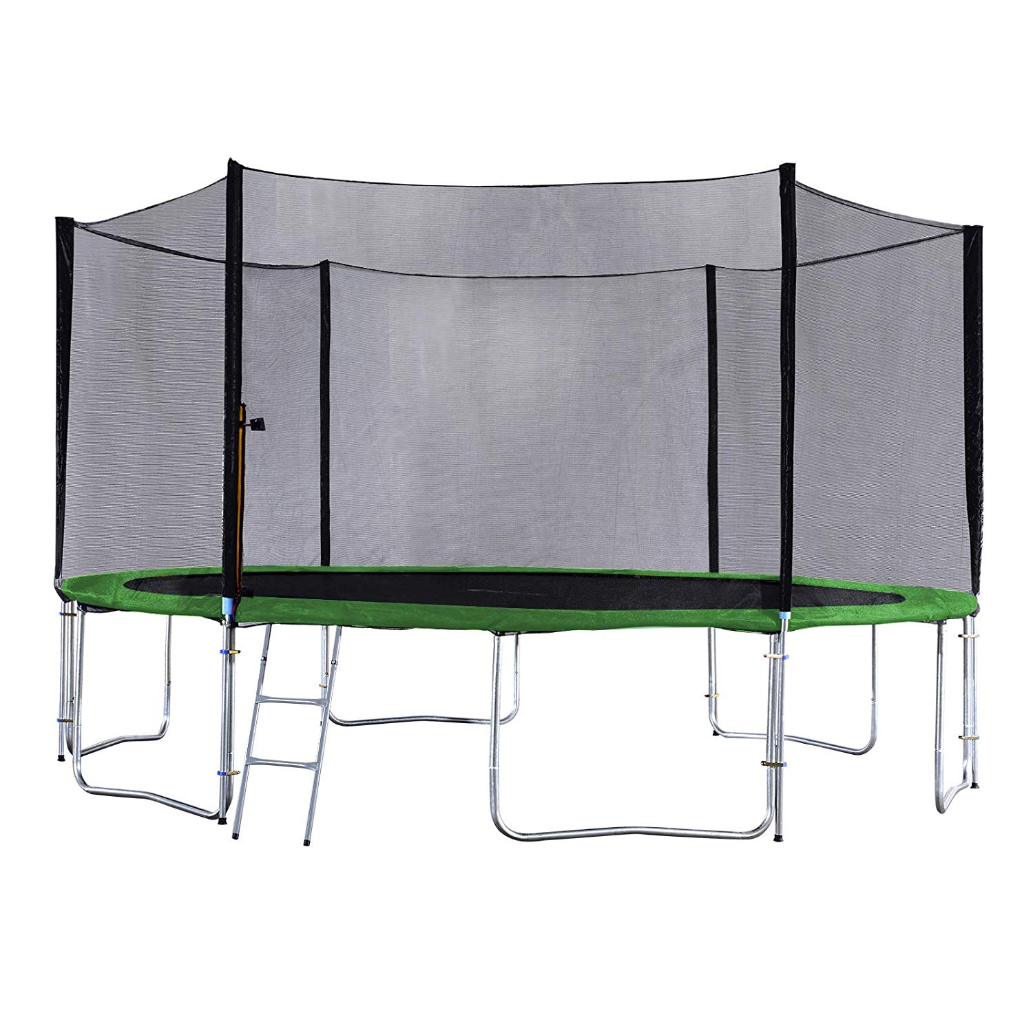 Exacme Outdoor Trampoline with Enclosure and Ladder Spring ...